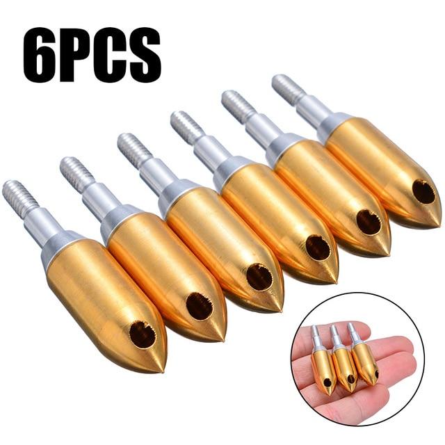 6Pcs Whistle Arrowhead High Quality Copper Iron Hunting Archery Arrow Head Tool Broadhead Outdoor Hunting Whistle Arrow Heads 1
