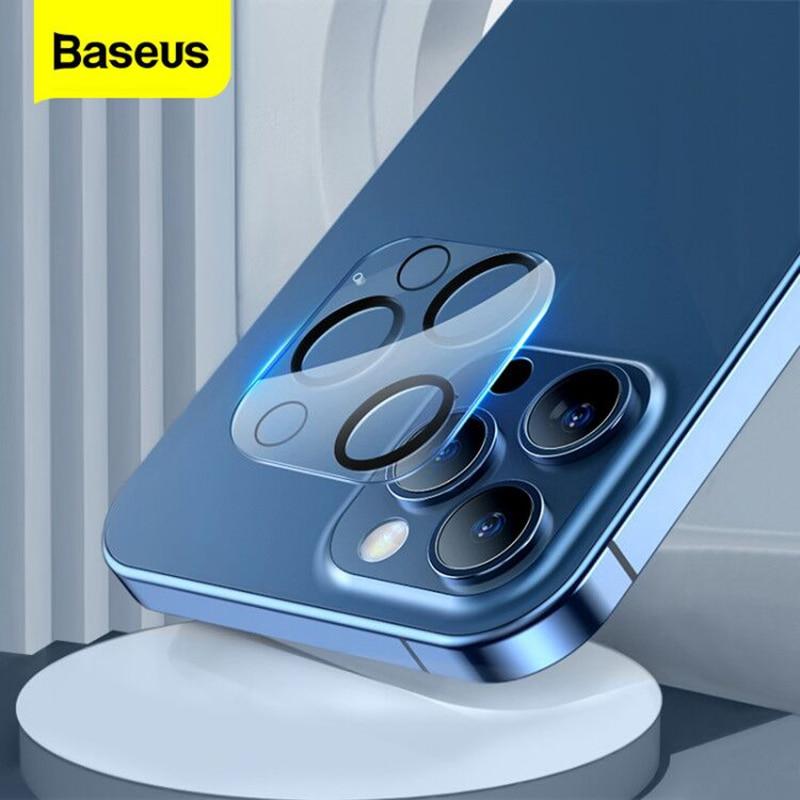Baseus 2PCS protezione dellobiettivo della fotocamera per iPhone 12 Pro Max 0.3mm lente protettiva per telefono in vetro temperato Ultra sottile
