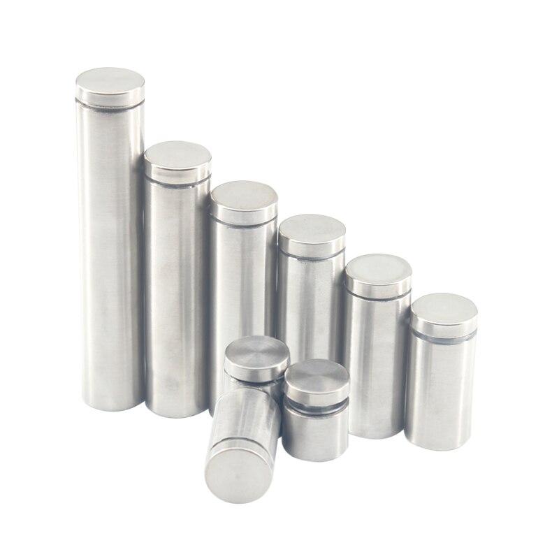 20 قطعة Dia.12MM الزجاج السحابات الفولاذ المقاوم للصدأ الاكريليك الإعلان المواجهات دبوس المسامير لوحة تحديد مسامير طول 20-100 مللي متر