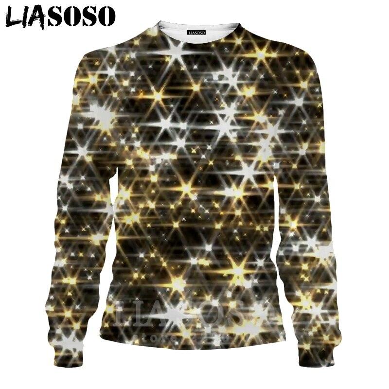 LIASOSO 3D Print Gold Sweatshirt Autumn Long Sleeve Glow Diamond Men`s Shirt Anime Women Fashion Tops O Neck Men Clothing D017-7 (6)