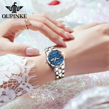 OUPINKE Top Luxury Women Wristwatch Automatic Mechanical Waterproof Watches Sapphire Mirror Tungsten Steel Watchstrap Lady Watch 2