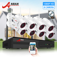 ANRAN 8CH Wireless Security Camera System 1080P Video Wireless Surveillance Camera Kits H.265 HDD 2MP IP66 Wireless NVR Sets
