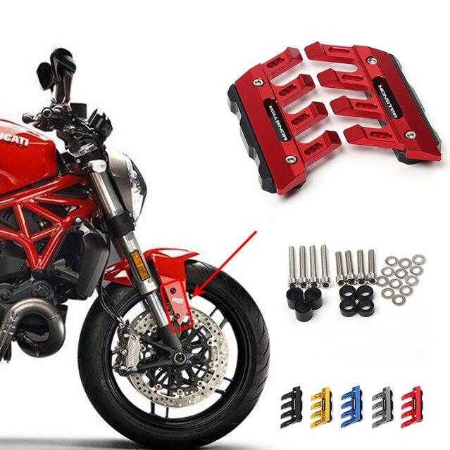 Quái Vật Cho Ducati MONSTER 695 696 795 796 797 821 1100 1200 Xe Máy Bánh Trước Tấm Bảo Vệ Fender Trượt Phụ Kiện Chắn Bùn