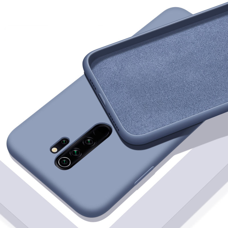 For Xiaomi Redmi Note 8 Pro Case Liquid Silicone Soft Cover For Xiomi Xiaomi Redmi Note 8 Note8 8A 8T Phone Case Shockproof(China)