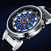 Tvg уникальные креативные автомобильные часы с ободком рулетки