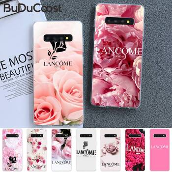 French Cosmetics Lancome Flower Phone Case For Samsung S5 6 7 8 9 10 S8 S9 S10 Plus S10E Lite S10-5G S20 UITRA Plus image