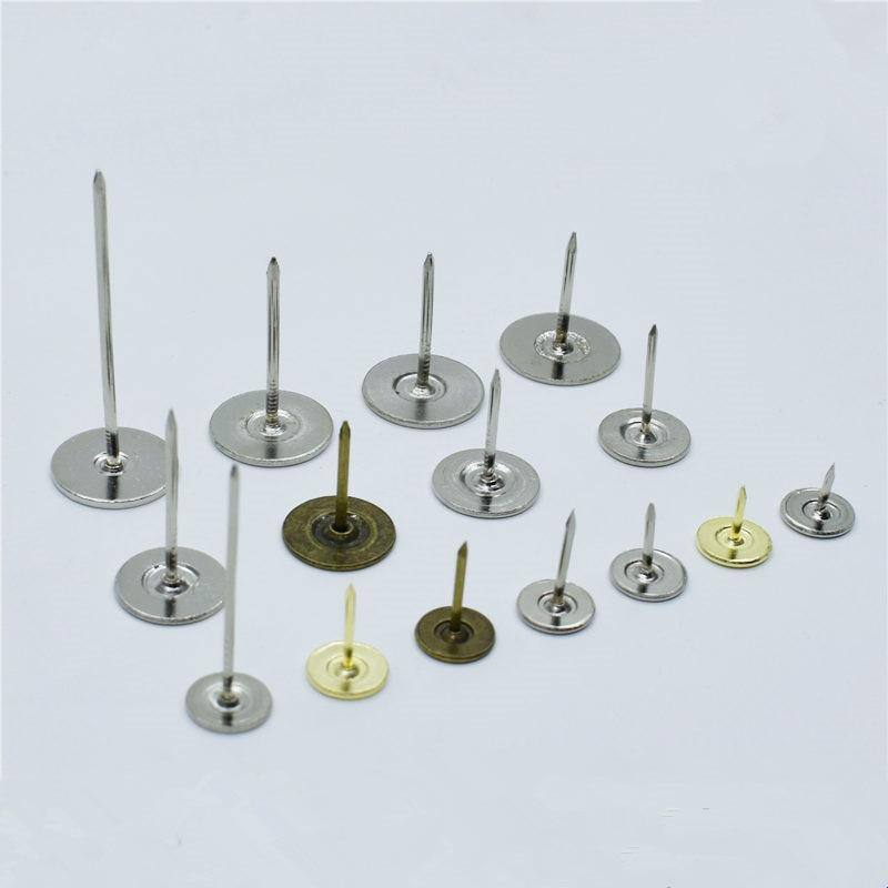 100pcs Metal Pushpin Decorative Thumbtacks Antique Tack Pin Nail Round Shape Push Pins Thumb Tacks Wall Cork Board Office