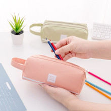 Litthing Large Capacity Pencil Case Double Zippers Pen Holder Organizer Stationery Travelling Multi-Functional Cosmetic Bag цена