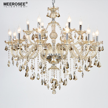 Cognac Crystal Chandelier Lighting Glass Arms Modern Pendelleuchte Cristal Lusters For Home Decor