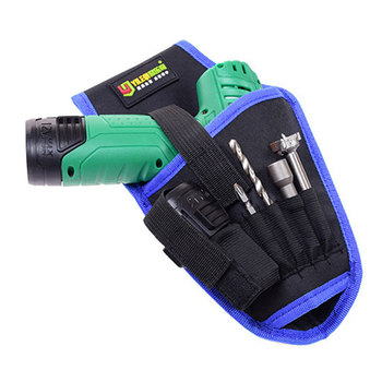 Multifunctional Drill Holster Waist Tool Bag Portable Wrench Hammer Screwdriver Tool Pouch Cordless Drill Holder Waist Tool Bag polyester screwdriver drill storage tool bag toolkit waist pack waist strap 600d polyester electric cordless drill holder waist