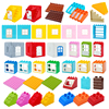 Big Building Blocks Houses Build Accessories Door Window Sets Wall Roof Compatible Large Bricks Assemble Boy Girl Kids Toy Gifts