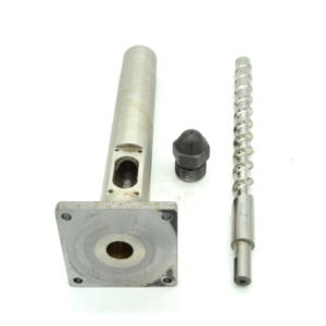 Screw-Barrel Extruder Nozzle 20mm with And 3PCS 40--40 220V Band-Heater A-Set Dia Sold