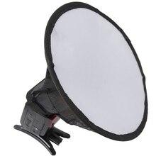 20cm Flash dyfuzor lekka fotografia domowa zdjęcie łatwa instalacja Softbox okrągłe przenośne profesjonalne akcesoria do Canon