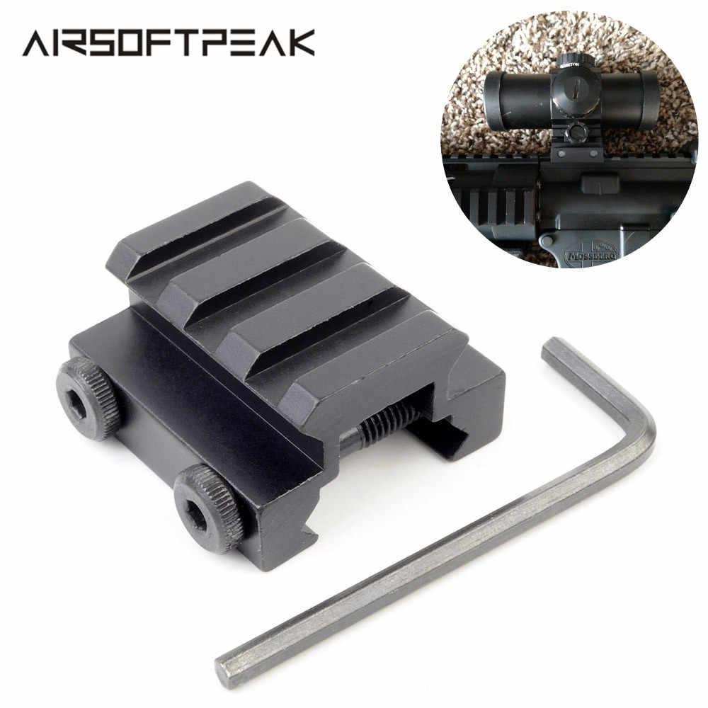 "Black 1//2/"" 3 Slot 20mm Weaver Picatinny Low Riser Rifle Base//Scope Mount Rail"
