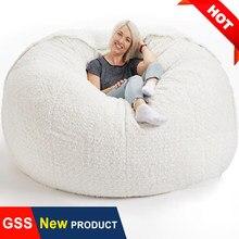 200cm diâmetro gigante saco de feijão sofá nenhum enchimento grande macio pele beanbag cama puff piso assento sofá sofá sofá preguiçoso cadeira confortável reclinável pufe
