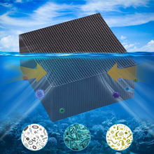 Eco-Aquarium Water Purifier Cube Ultra Strong Filtration & Absorption Grid Hole Activated Carbon Filters 10x10x5cm new air purifier double negative ion output port four layer filtration primary filtration activated carbon cold catalyst hepa