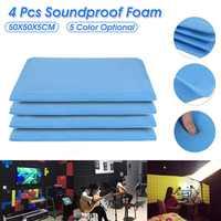 4 шт 50x50x5 см высокой плотности студийные акустические пены панели звукоизоляция пена Ktv пена акустическая пена лечение звука