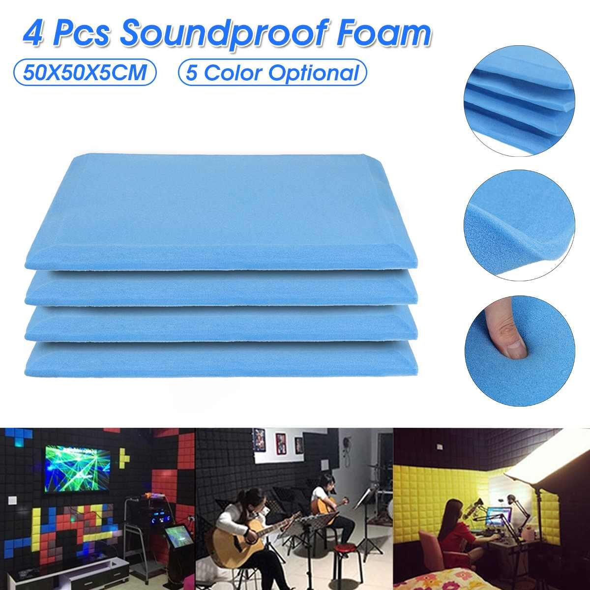 4 Pcs 50x50x5cm High Density Studio Acoustic Foams Panels Sound Insulation Foam Ktv Foam Acoustic Foam Sound Treatment