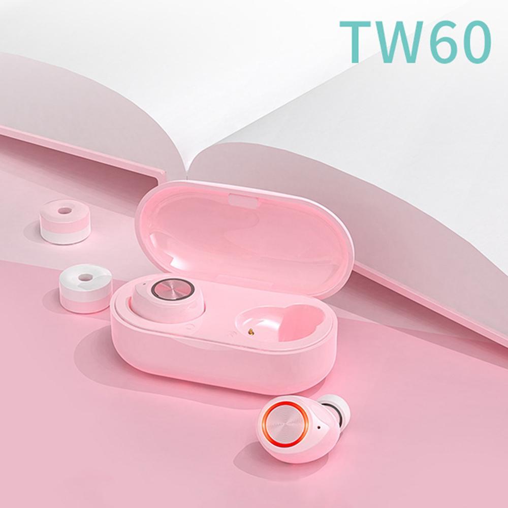 TW60 Mini Bluetooth 5.0 In-Ear Wireless Earphones Sports Earbuds with Dual Microphone Bluetooth In-Ear Wireless Headphones