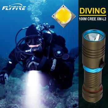 Super bright 100M latarka do nurkowania latarka led IPX8 wodoodporna latarka podwodna CREE XM-L2 profesjonalne światło do nurkowania 18650 tanie i dobre opinie paweinuo CN (pochodzenie) ROHS Odporny na wstrząsy Twarde Światło Samoobrona Bez regulacji EHQ001C1 200-500 m Bezstopniowa ściemniania