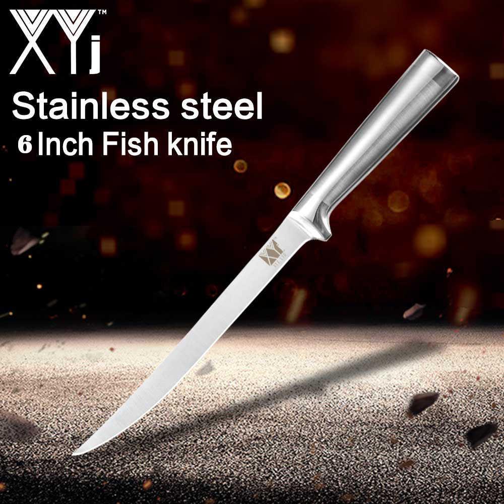 XYj noże do trybowania ze stali nierdzewnej świetna kuchnia nóż filetowy Eviscerate rzeźba z ryb tasak japoński nieprzywierający nóż do trybowania