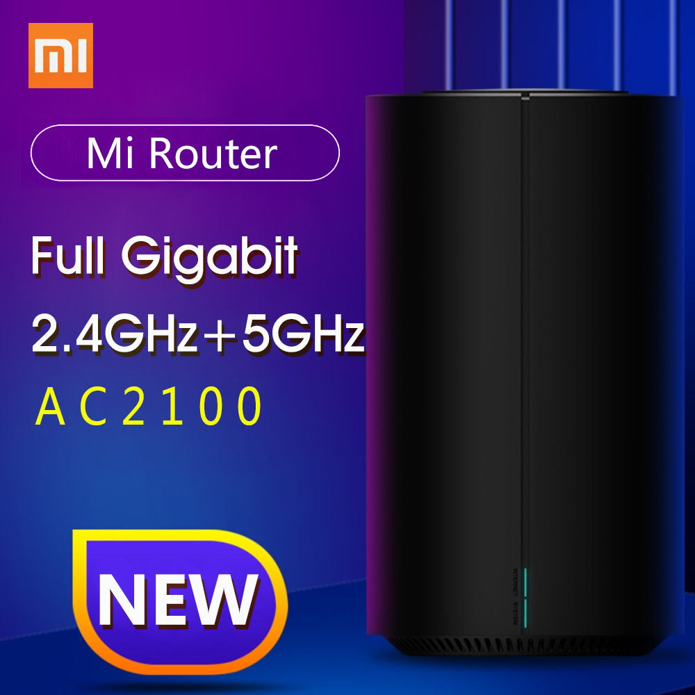 Xiao Mi Mi Router AC2100 Dual Frequentie Wifi 128 Mb 2.4 Ghz 5 Ghz 360 ° Dekking Dual Core Cpu game Remote App Controle Voor Mi Thuis title=