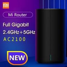 샤오미 mi Router AC2100 듀얼 주파수 WiFi 128MB 2.4GHz 5GHz 360 ° 커버리지 mi 홈 용 듀얼 코어 CPU 게임 원격 APP 제어
