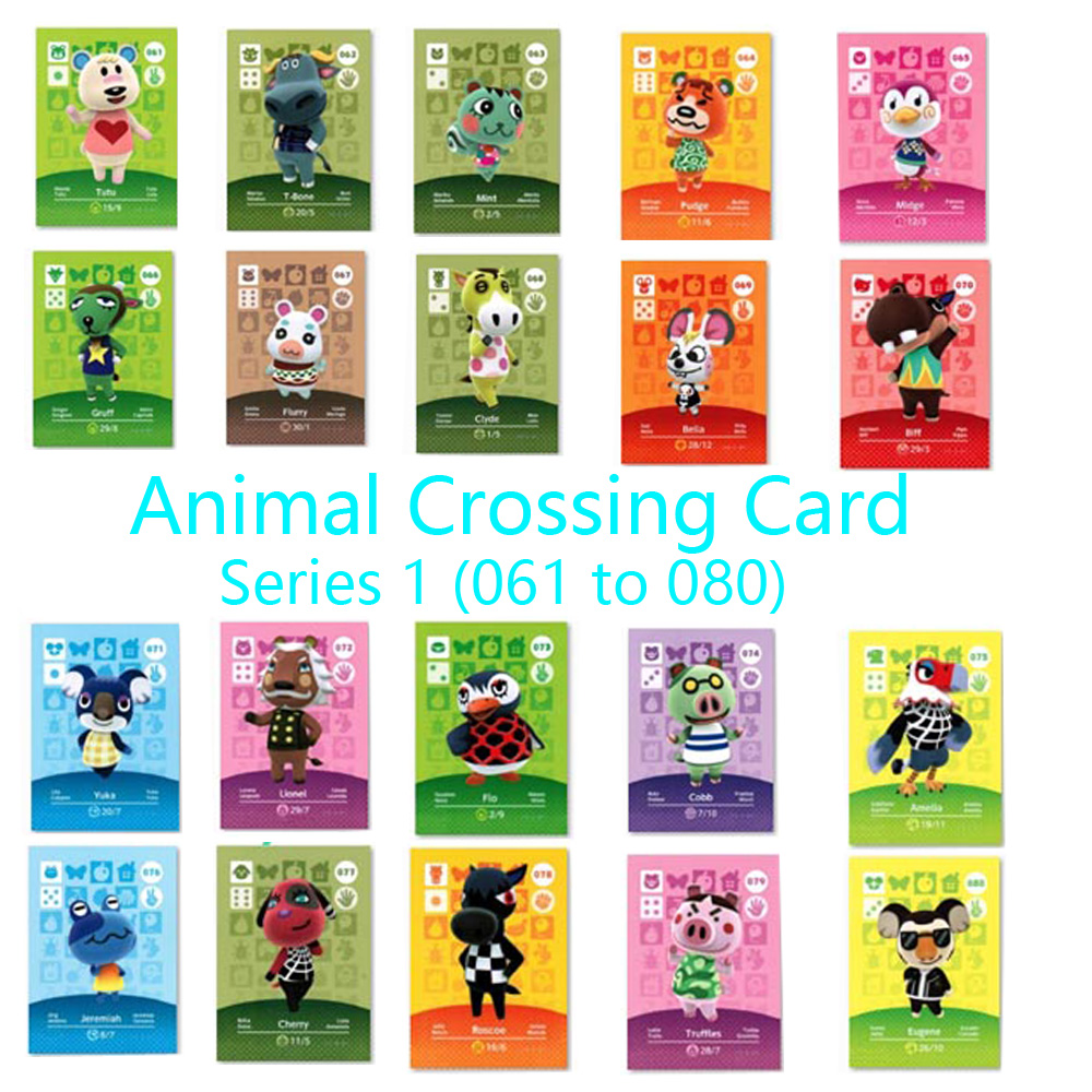 Animal Crossing Card Amiibo Locks Nfc Card Work For NS Games Series 1 (061 To 080)