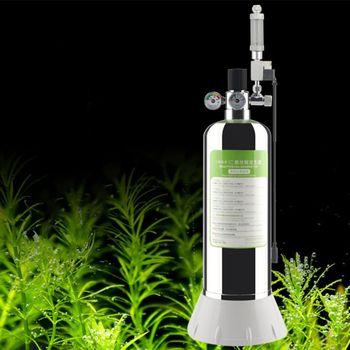 Acuario DIY CO2 generador Sistema de acero inoxidable botella herramientas con medidor de presión válvula de alivio de presión automática Bubble Counte