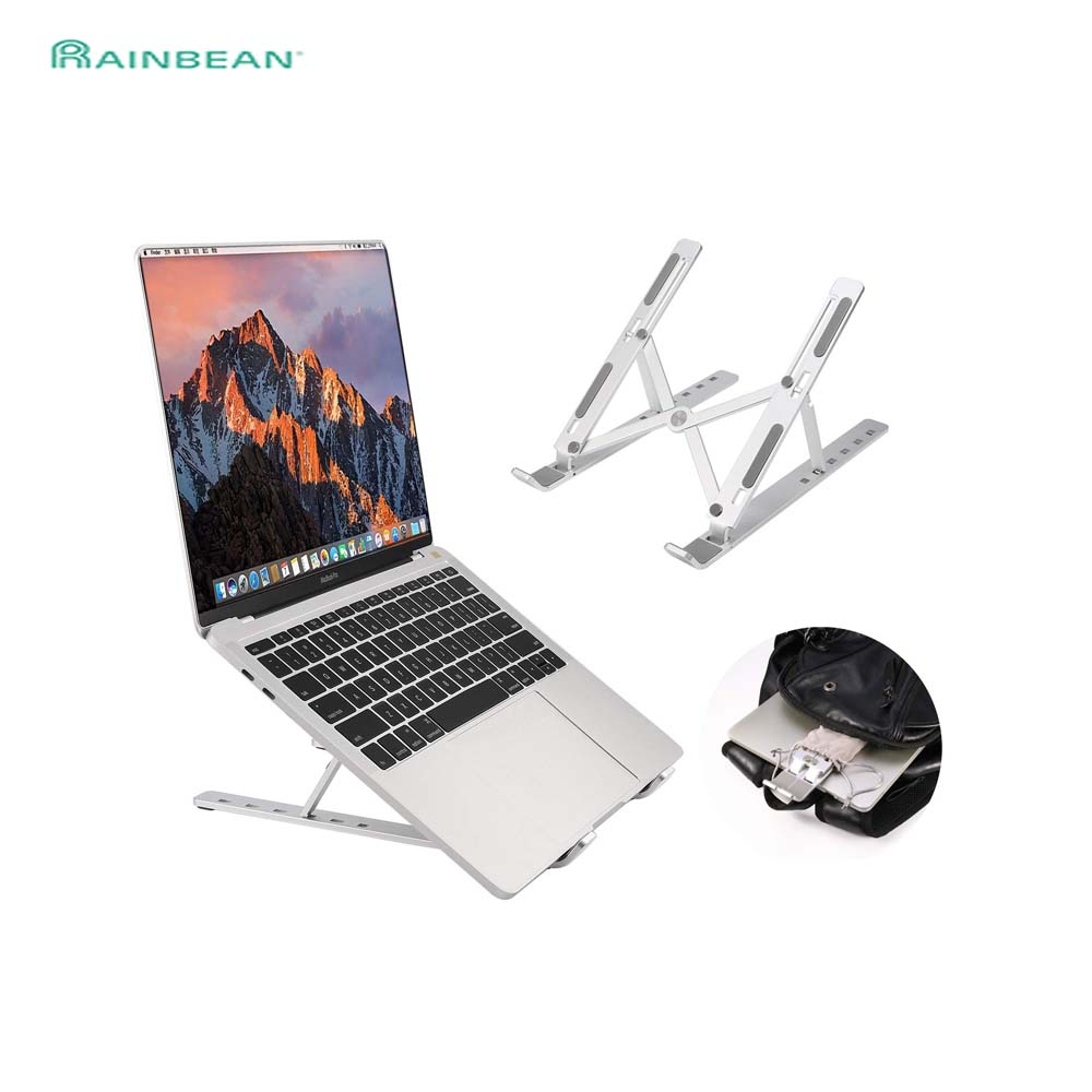 Portable Laptop Stand 6 Heights Adjustable Aluminum Alloy Desktop For Notebook MacBook Computer Bracket Holder Non-slip