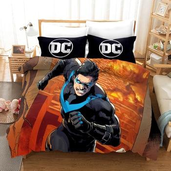 Estampado 3D Marvel Iron Man Thor Capitán América los Vengadores juego de edredón funda para cama funda para almohadas de niños ropa de cama línea de cama