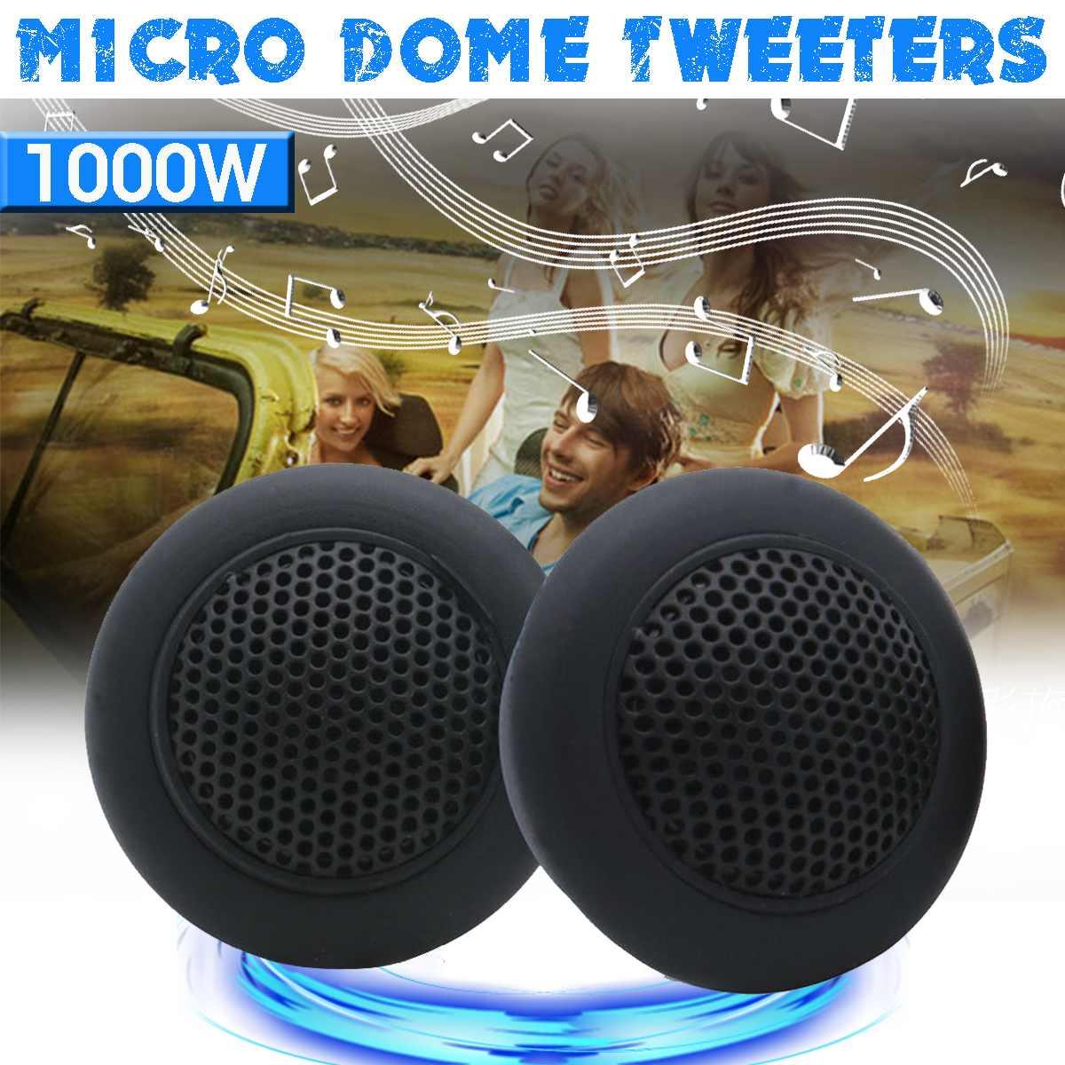12V-24V 1Pair HIFI Micro Dome Tweeters 89db Car Audio Music Speakers Automobile Horn Loudspeaker Stereo Treble Tweeters Speaker