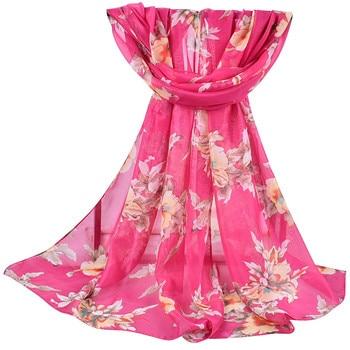 2020 new autumn Winter Women Printed Soft Chiffon Shawl Wrap Wraps Scarf Scarves Ladies pastoral chiffon scarves scarves  #927 6