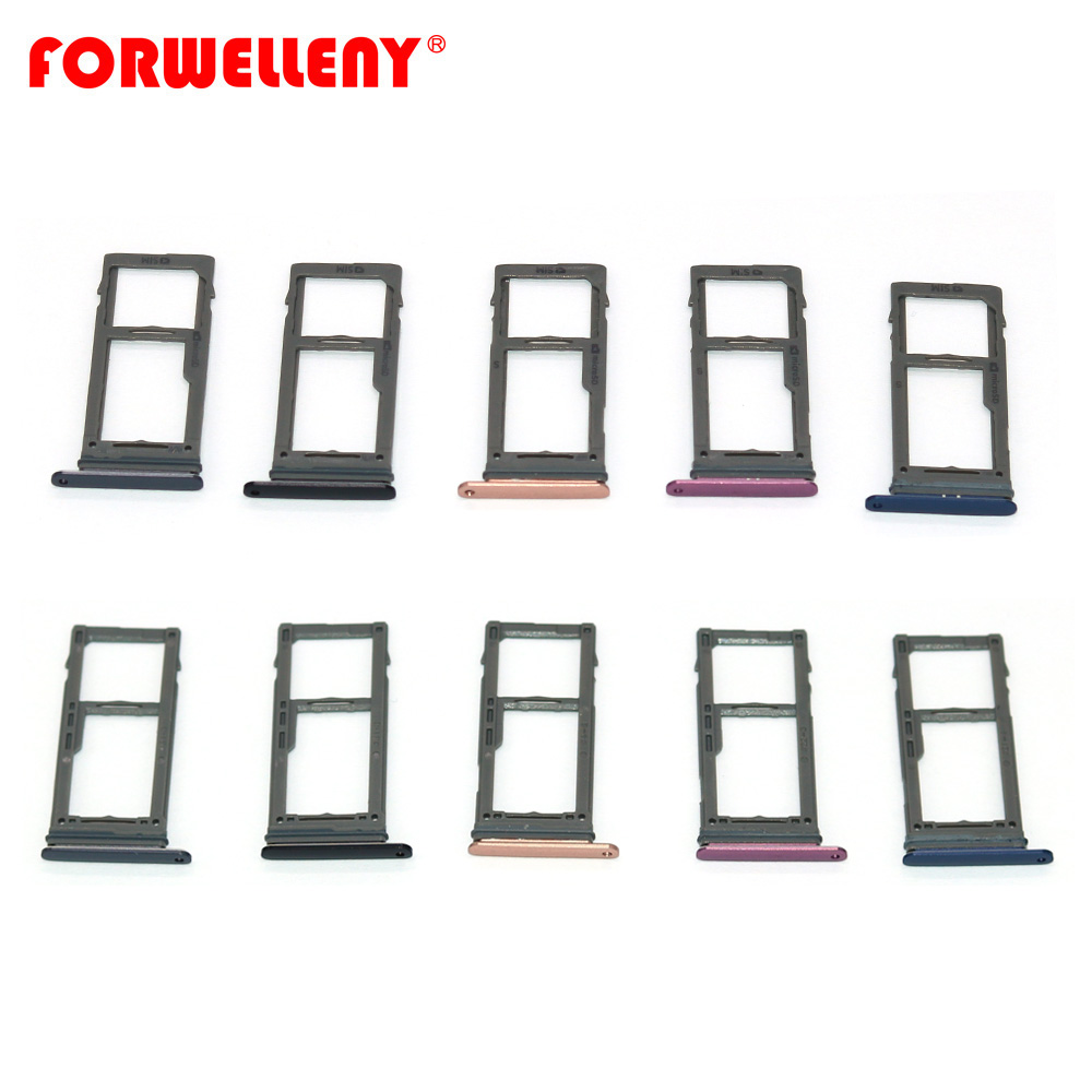 For <font><b>SAMSUNG</b></font> Galaxy S9 / S9 PLUS G960 G965 Micro <font><b>Sim</b></font> <font><b>Card</b></font> Holder Slot Tray Replacement <font><b>Adapters</b></font> Black, grey, gold, blue, purple image
