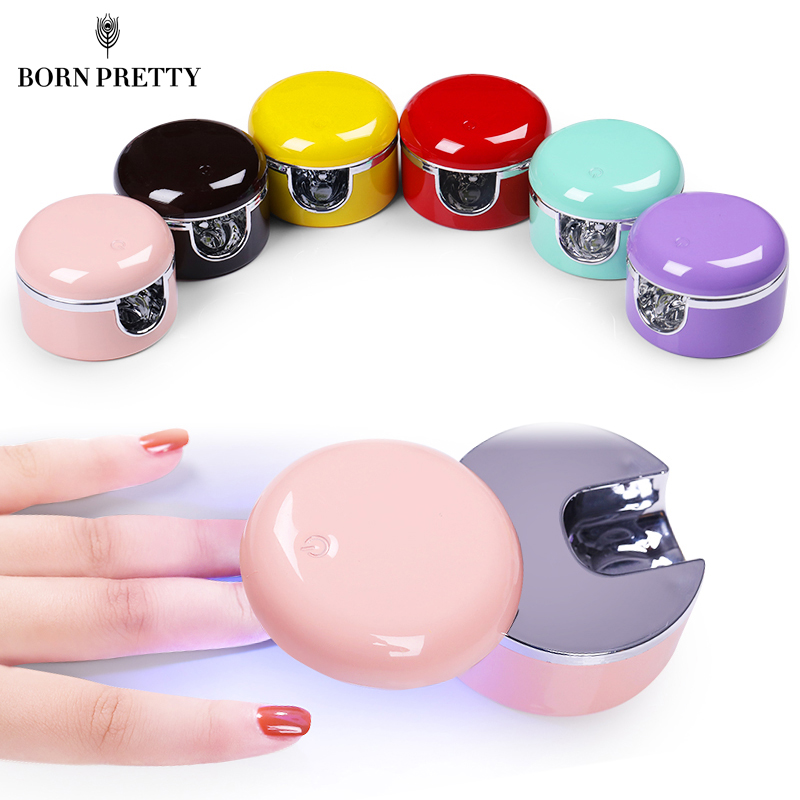 3W LED UV lampe à ongles sèche-ongles Mini forme UV lampe rose sans fil Portable USB câble ongles outils pour guérir tout Gel vernis à ongles