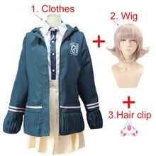 Hoge Scholieren Uniform Anime Danganronpa Nanami Chiaki Cosplay Kostuum Lange Mouwen Jas Korte Rok Loli Rok