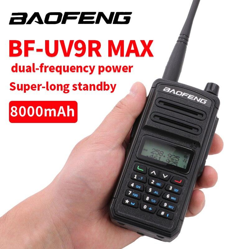 Professional Baofeng UV 9R MAX Plus Two Way Radio Walkie Talkie 30km UV9R Max Transceiver VHF UHF Portable Ham CB Radio Station