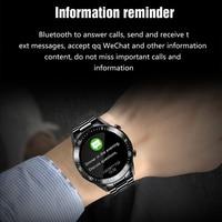 Lige 2020 nova banda de aço relógio digital dos homens do esporte relógios eletrônicos led masculino relógio de pulso para homens relógio à prova dbluetooth água bluetooth hora 3