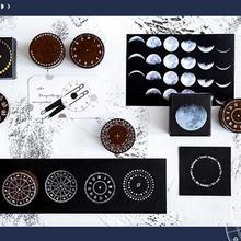 Винтажные часы с календарем и фазой Луны, круглые штампы, деревянные и резиновые штампы для скрапбукинга, канцелярские товары, стандартный штамп для скрапбукинга