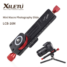 XILETU LCB 16M Mini Macro Photography Rail Slider Tabletop Portable Slide for Camera Macro Time lapse Photography ARCA SWISS