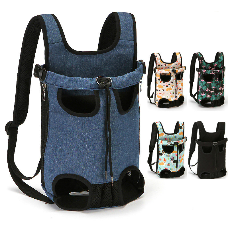 Pets Accessories Cat Backpack Canvas Breatable Puppy Travel Dog Bag Backpack for Small Dog Chihuahua Pitbull Corgi Cat Carrier