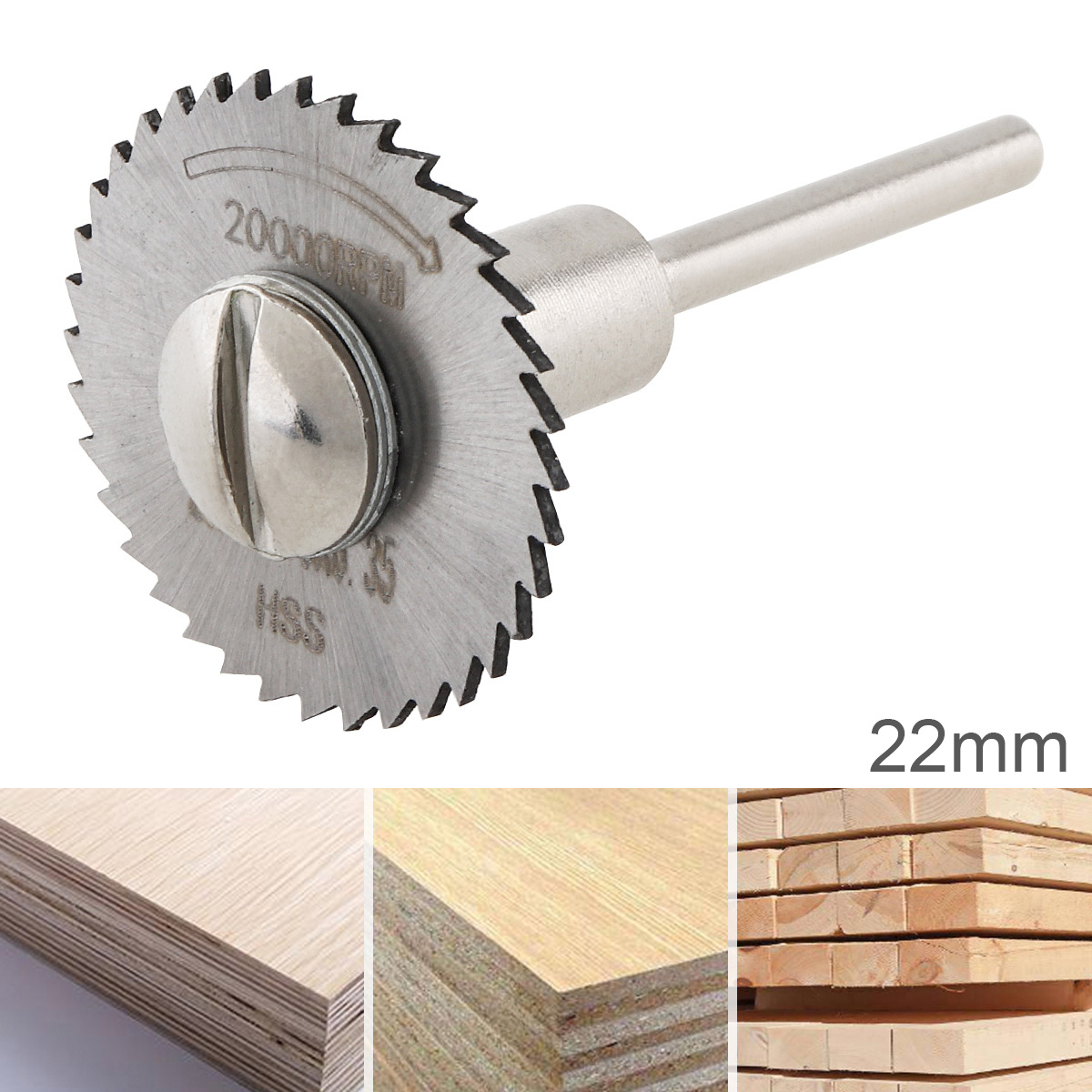 22mm 25mm 32mm HSS High Speed Steel Mini Circular Saw Blade Cutting Tool Mandrel Disc Blade With Connecting Rod