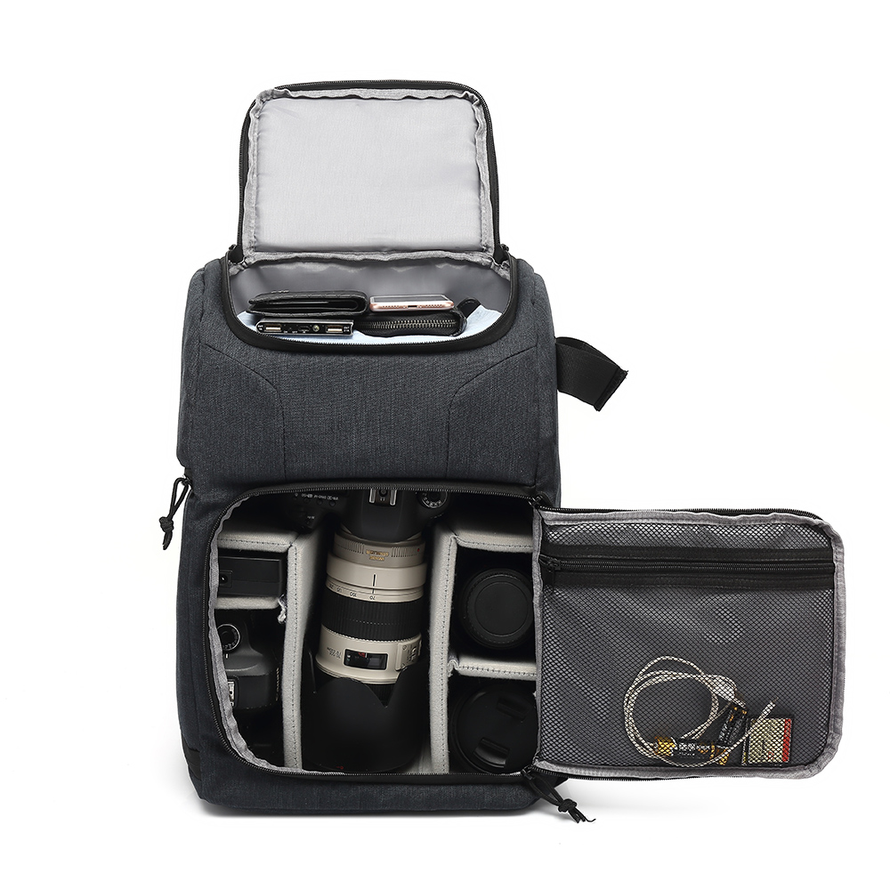 Waterproof Camera Bag Photo Cameras Backpack For Canon Nikon Sony Xiaomi Laptop DSLR Portable Travel Tripod Lens Pouch Video Bag image