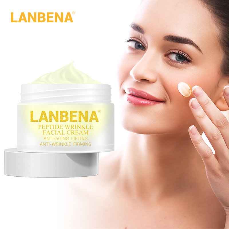 LANBENA Peptide Anti Wrinkle Facial Cream Anti Aging Skin Whitening Lifting Firming Acne Treatment Hyaluronic Acid Snail Cream