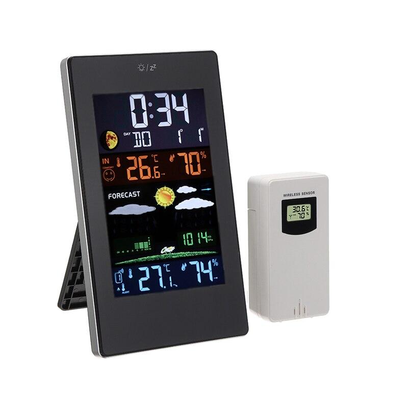 Цифровой термометр гигрометр комнатный наружный Измеритель температуры и влажности Беспроводная метеостанция с календарем часов|Приборы для измерения температуры|   | АлиЭкспресс