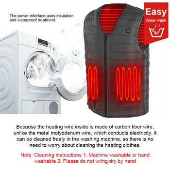 3 Gears Adjustable Winter Smart Heated Cotton Vest USB Heating Jacket Outdoor Camping Fishing Skiing Hunting Warm Clothes 4