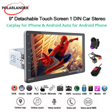 Detachable-Machine Car-Radio Single-Spindle Android/apple Caplay Control9inch Full-Touch-Screen