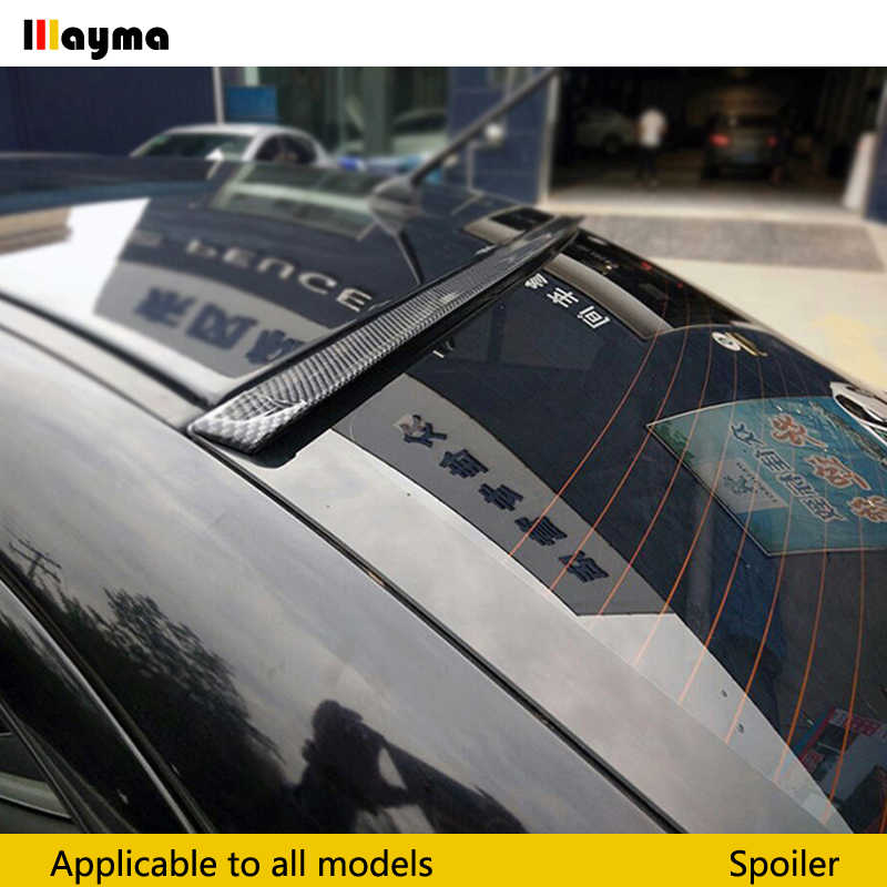 1.5 Meters Universal Fake Carbon Fiber PU Car Rear Roof Spoiler Trunk lip Wing Car Boky kit Trim For Audi A3 A4 A5 A6 A7 A8 TT