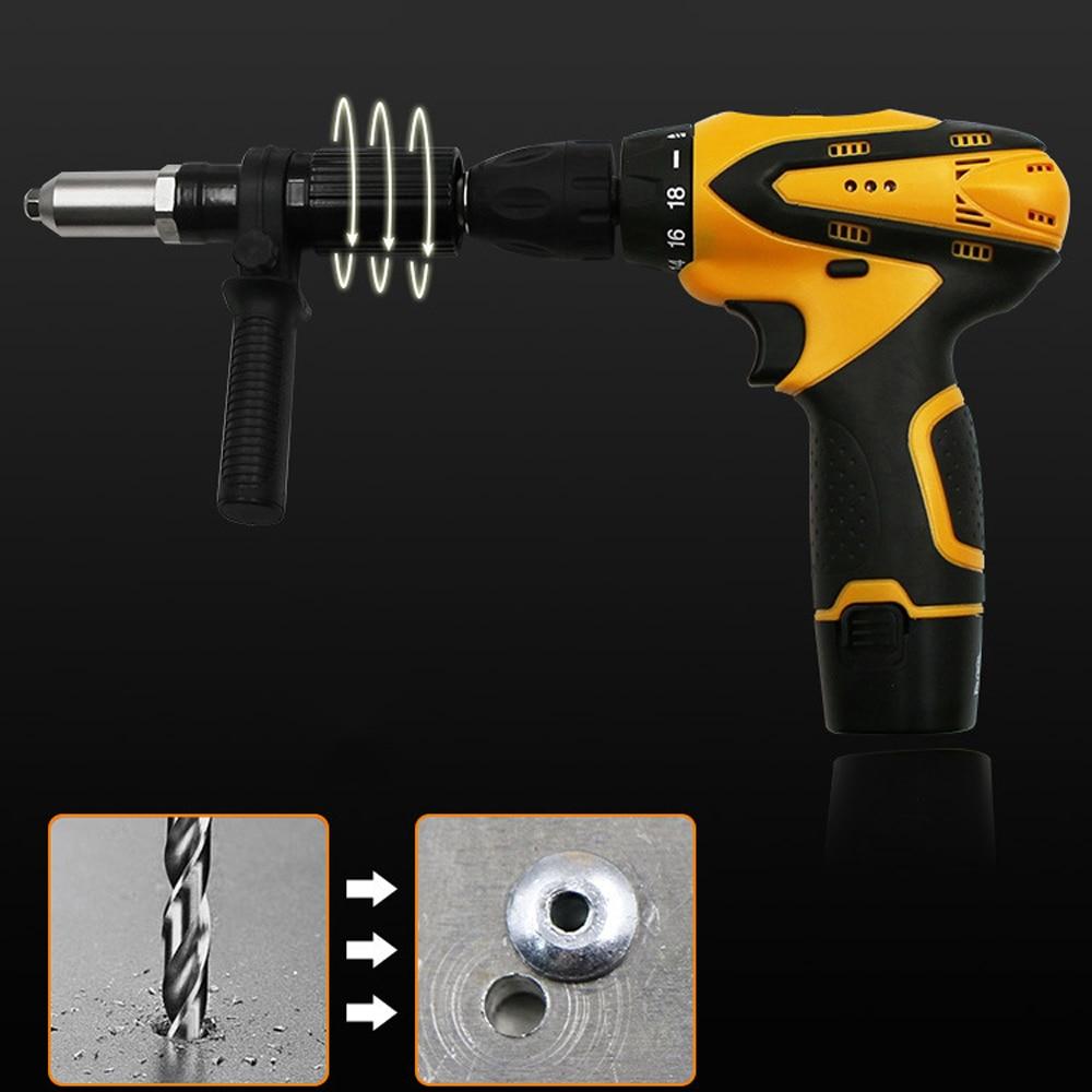 Riveter Guns Electric Rivet Nut Machine Pull Accessories Attachments Cordless Riveting Drill Adapter Riveter Insert Nut Tools