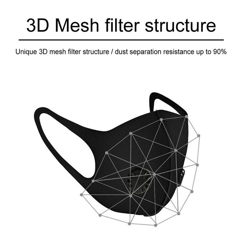 1Pcs PM2.5 Anti Dust Mask  Activated Carbon Hypoallerge Protect Lung Windproof Popular Masks